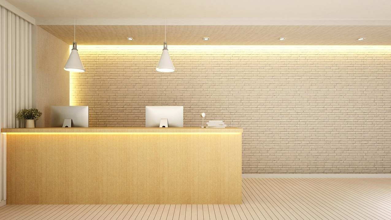 Office Reception Lighting