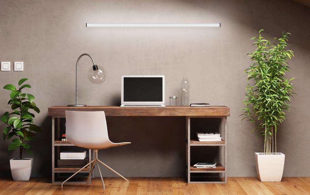 Lighting a home workspace setup